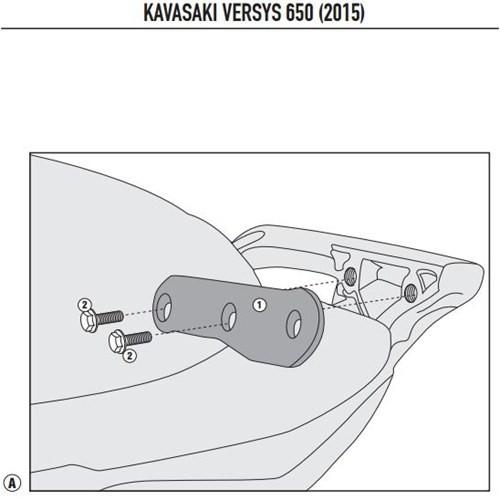 Kappa 4114Kıt Kawasakı Versys 650 (15) Yan Çanta Tasıyıcı Baglantı Kıtı