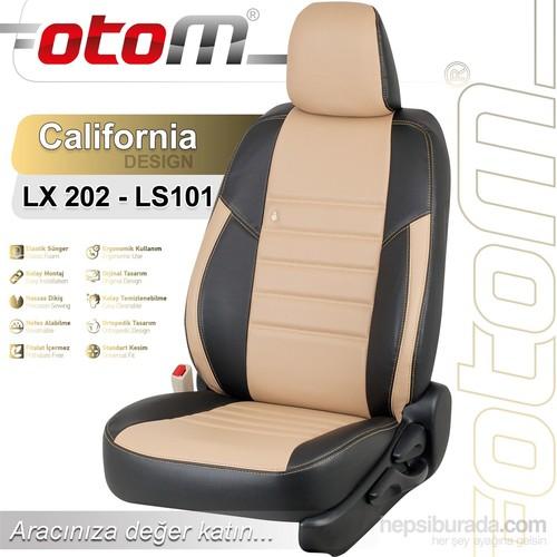 Otom Honda Cıty 2009-Sonrası California Design Araca Özel Deri Koltuk Kılıfı Bej-101