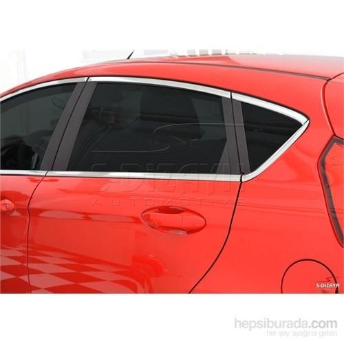 S-Dizayn Ford Fiesta 2 2009 Model ve Üzeri Cam Çerçeve 16 Parça Krom Paslanmaz Çelik