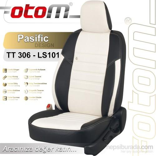 Otom Toyota Yarıs 2015-Sonrası Pasific Design Araca Özel Deri Koltuk Kılıfı Kırık Beyaz-101