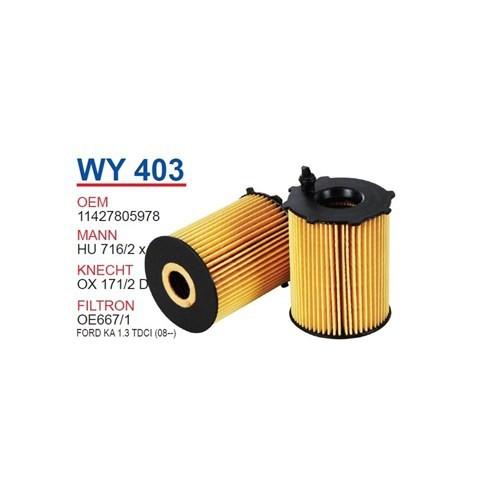 Wunder Ford Fiesta 1.4 - 1.6 Tdcı Yağ Filtresi Oem No: 11427805978