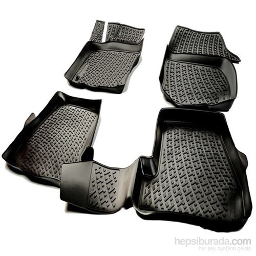 L.Locker Porsche Cayenne 2011-2014 3D Havuzlu Paspas