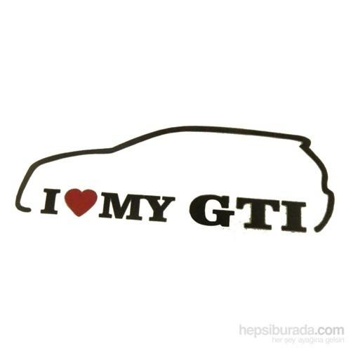 I loveMy Gti Sticker 13x5cm