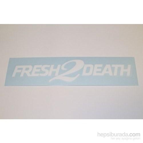 "Z tech "" Fresh 2 Death "" Beyaz Sticker 18x4 cm"