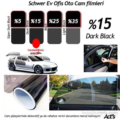 Schwer 75 Cm x 8 Mt Rulo Cam filmi %15 Dark Black-8330