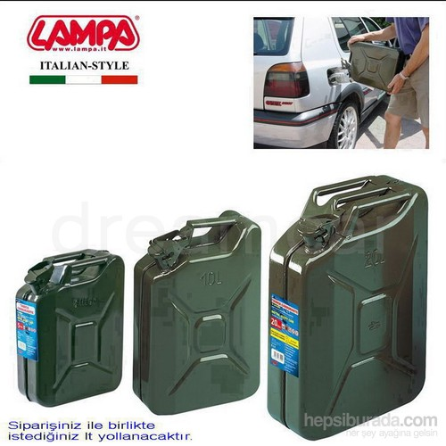 Lampa Jerry-Can Askeri Metal Benzin Bidonu 5 L 67002