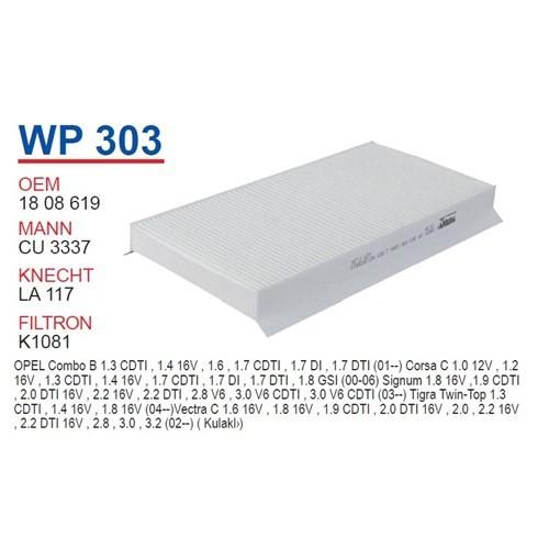 Wunder OPEL Vectra C Kasa Polen Filtresi OEM NO: 1808619