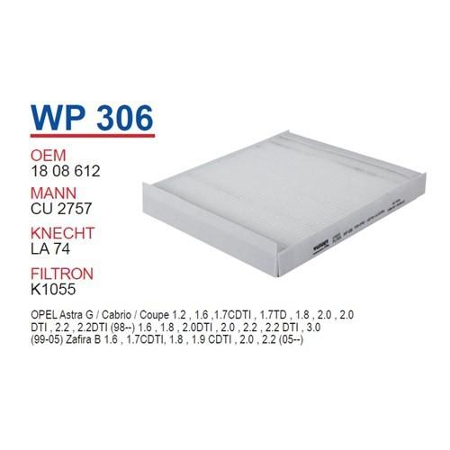 Wunder OPEL Astra G Klimasız Polen Filtresi OEM NO: 1808612