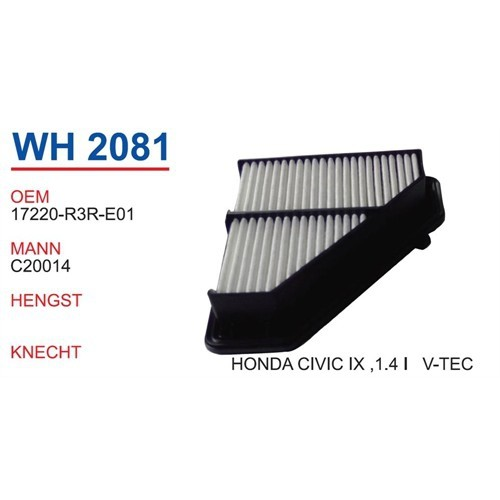 Wunder Honda Civic 4 Kasa 1.4 I V-Tec Hava Filtresi Oem No:17220-R3r-E01