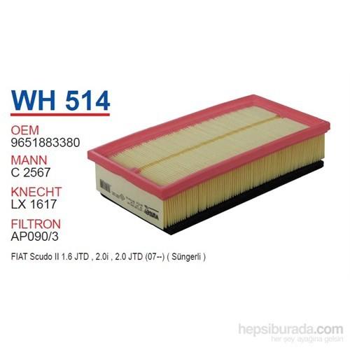 Wunder FIAT SCUDO II 1.6 HDI Hava Filtresi OEM NO: 9651883380