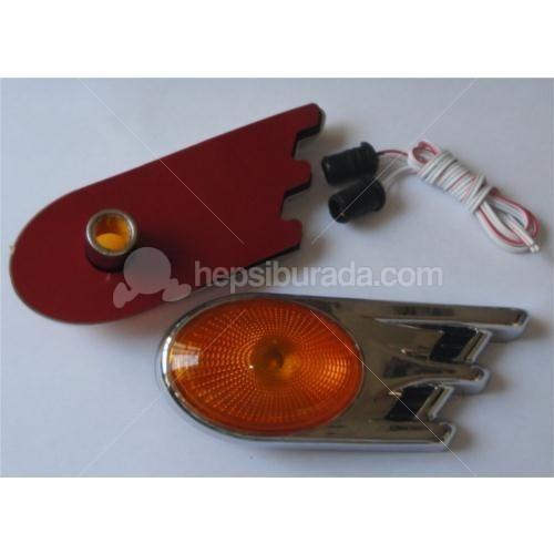 Dreamcar Yan Sinyal Lambası Krom Oval Sarı Camlı 2'li 3548302