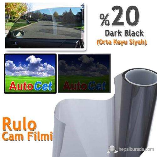 Autocet 152 cm 60 MT Renkli Rulo Cam Filmi Siyah % 20 Black (MADE IN KOREA)