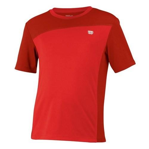 Wilson Rush Colorblock Crew Red Erkek Jr Kıyafeti