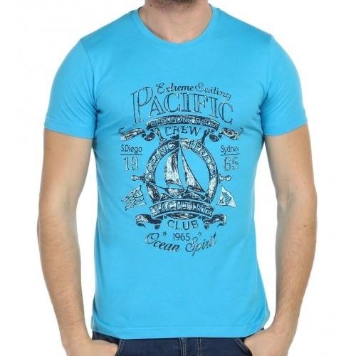 Scorp Ocs-9000 Oceans Mavi Baskılı Erkek Tişört