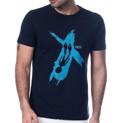 Scorp Xf-9000 X Files Lacivert Baskılı Erkek Tişört