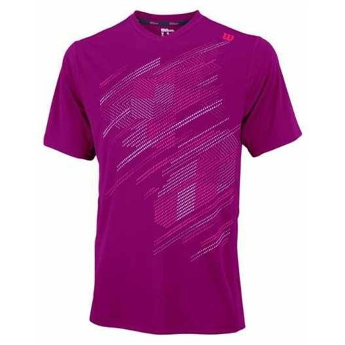 Wilson Su Blur Plaid V - Neck Merlot Erkek Tenis Kıyafeti