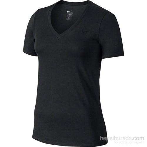Nike Tee-Vneck Embrd Swoosh Kadın Tişört 704298-010