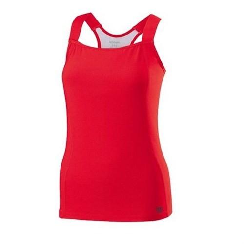 Wilson New Tour Tank Red Kadın Tenis Kıyafeti