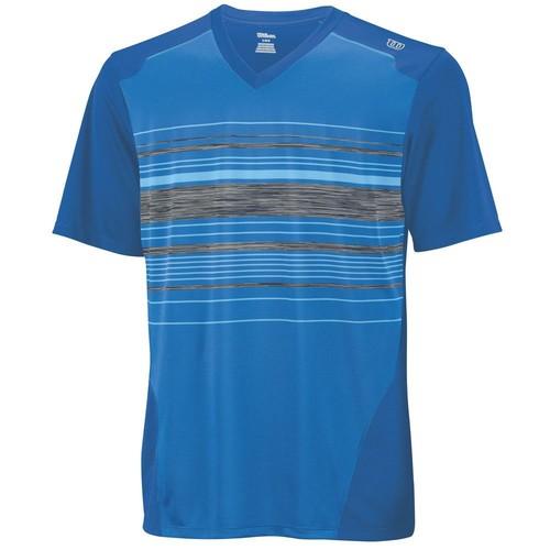 Wilson Su Specialist Stripe V Neck Blue Erkek Tenis Kıyafeti