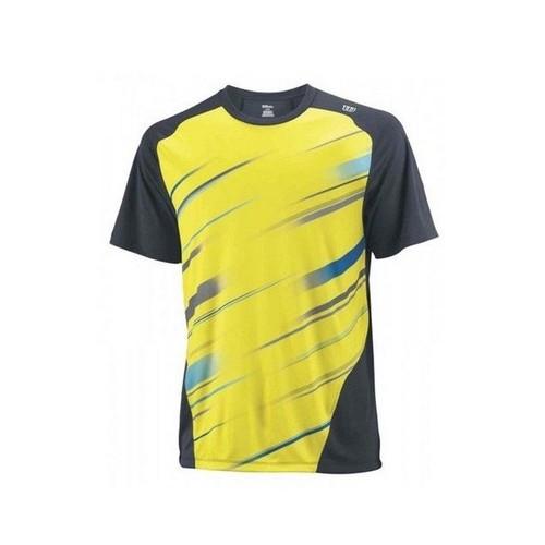 Wilson Cardiff Blur Stripe Crew Yellow Erkek Tenis Kıyafeti