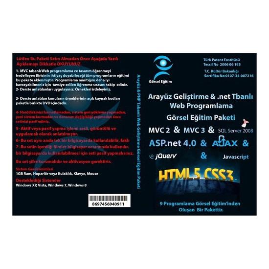 Görsel Eğitim Arayüz Geliştirme ve Mvc ile Web Programlama