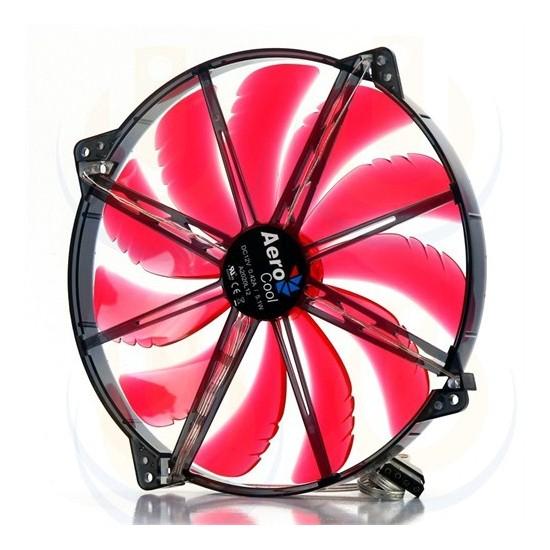 Aerocool Silent Master Serisi 20cm Kırmızı LED'li Sessiz Kasa Fanı (AE-CFSL200R)