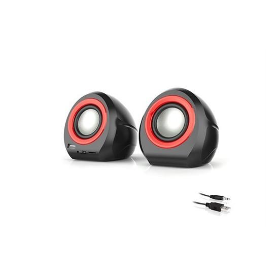 Mikado Md-179 2.0 Siyah/Kırmızı Usb+Sd+Fm Radyolu Speaker