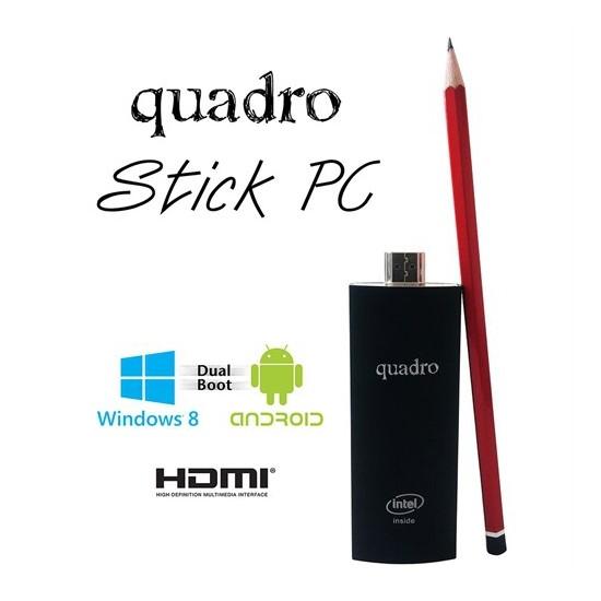 Quadro Stick PC Intel Atom Z3735F 1.33GHz / 1.83GHz 2GB 32GB SSD Stick Bilgisayar