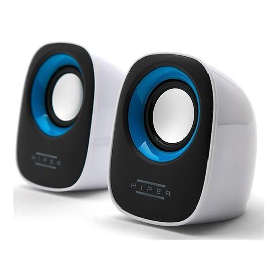 Hiper MS-20B 1+1 Multimedya USB Beyaz Speaker