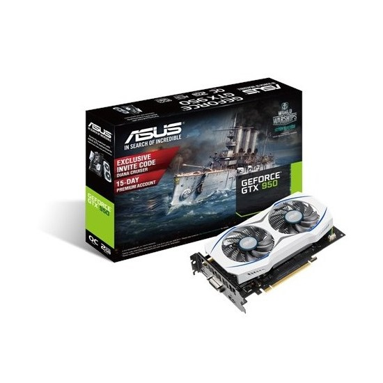 Asus Nvidia GeForce GTX 950 2GB 128Bit GDDR5 (DX12) PCI-E 3.0 Ekran Kartı (GTX950-OC-2GD5)