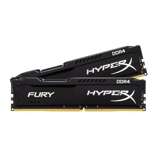 Kingston HyperX Fury Black 8GB(2x4GB) 2400MHz DDR4 Ram (HX424C15FBK2/8)