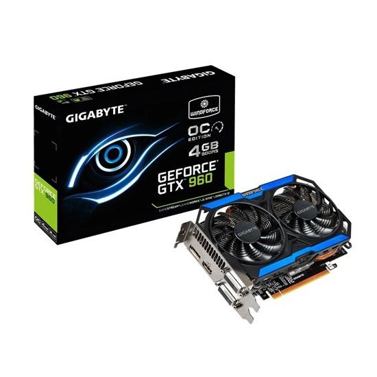 Gigabyte Nvidia GeForce GTX 960 Windforce OC 4GB 128Bit GDDR5 (DX12) PCI-E 3.0 Ekran Kartı (GV-N960OC-4GD)