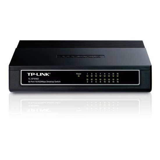 TP-LINK TL-SF1016D 16-Port 10/100Mbps Tak ve Kullan % 70 Enerji Tasarruflu Switch