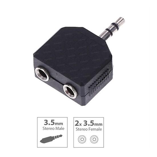 Dark 3.5mm Stereo 2x Kulaklık Çoklayıcı (DK-CB-AU35X235)
