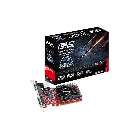 Asus Amd Radeon R7 240 2GB 128Bit DDR3 (DX12) PCI-E 3.0 Ekran Kartı (R7240-2GD3-L)