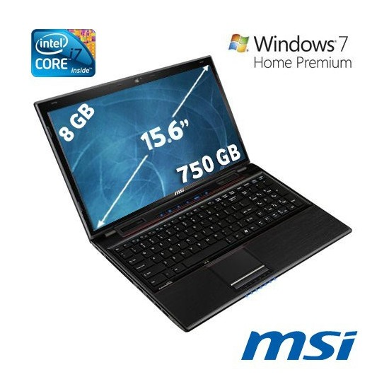 """MSI GE60 Intel Core i7 3610QM 2.3GHZ 8GB 750GB 15.6"""" Taşınabilir Bilgisayar"""