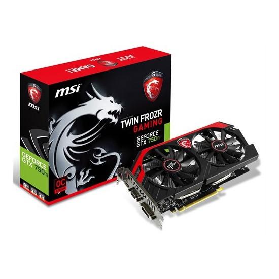 MSI Nvidia GeForce GTX 750Ti OC 2GB 128Bit GDDR5 (DX11.2) PCI-E 3.0 Ekran Kartı (N750Ti TF 2GD5/OC)