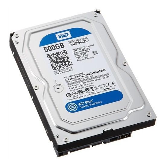 """WD Blue 500GB 7200RPM 32MB 3,5"""" Sata 3.0 Sabit Disk (WD5000AZLX)"""