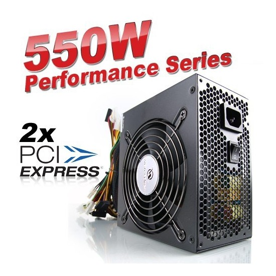 High Power Performance 550W Aktif PFC 12cm Fanlı Power Supply (HP-550-A12S)