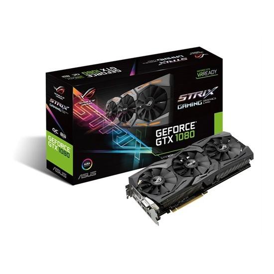 Asus ROG STRIX Nvidia GeForce GTX 1080 OC 8GB 256Bit GDDR5X (DX12) PCI-E 3.0 Ekran Kartı (STRIX-GTX1080-O8G- Gaming)