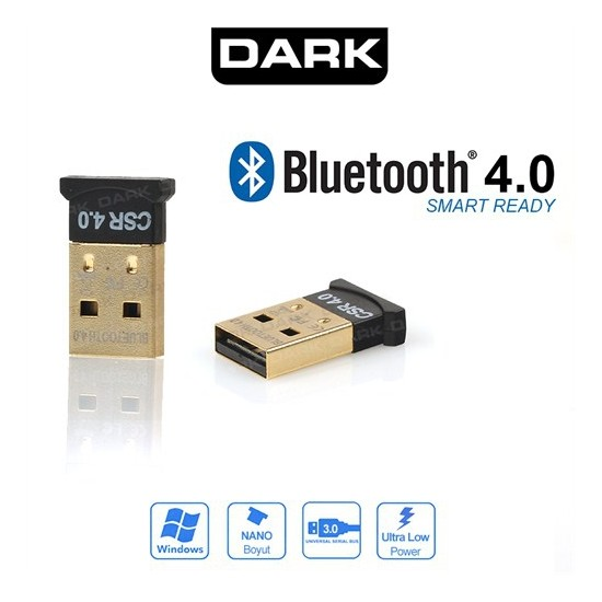 Dark Bluetooth 4.0 Mini Dongle Usb Alıcı (DK-AC-BTU40)