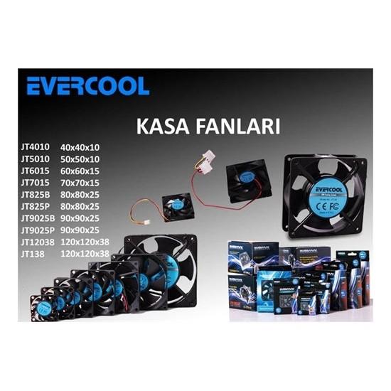 Evercool Jt825b 80*80*25Mm Kutulu Powerdan Beslemeli Kasa Fanı
