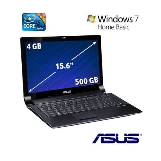 "Asus N53SV-SX365R Intel Core i5 2410M 2.3GHZ 4GB 500GB 15.6"" Taşınabilir Bilgisayar"