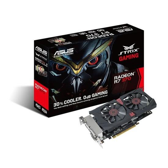 Asus AMD Radeon R7 370 2GB 256Bit GDDR5 (DX12) PCI-E 3.0 Ekran Kartı (STRIX-R7370-DC2OC-2GD5- Gaming)