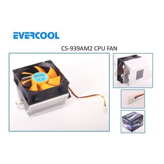 Evercool CS-939AM2 3pin Kırmızı CPU Fan