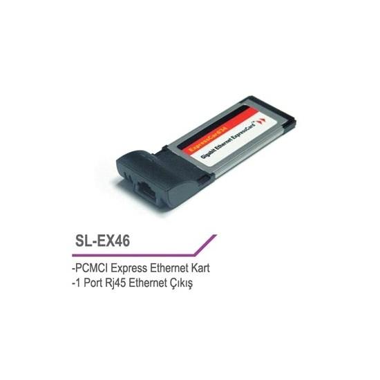 S-Link Sl-Ex46 Pcmci Express 10/100 Lan Kart