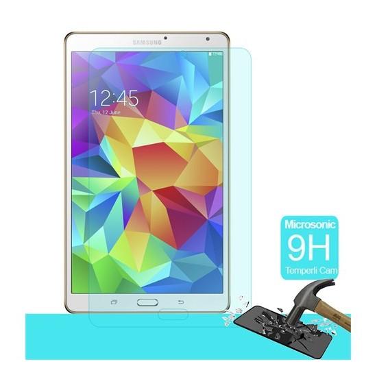 Microsonic Temperli Cam Ekran Koruyucu Samsung Galaxy Tab S T700 8.4 İnch Kırılmaz Film