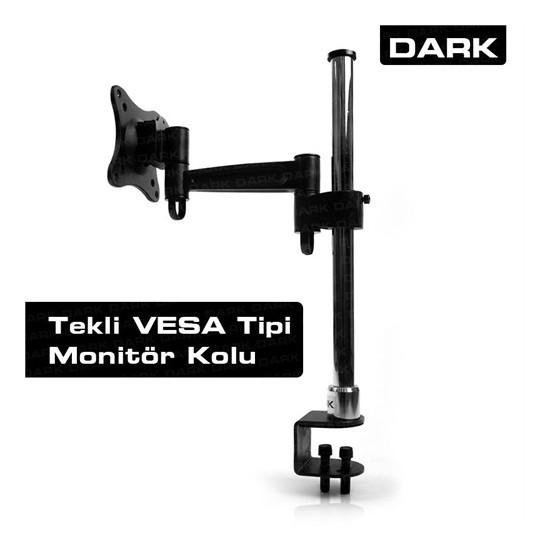 "Dark 1 Monitör Destekli Masa Tipi Ekonomik VESA Mount 13""-23"" LCD Monitör Kolu (DK-AC-VM10)"