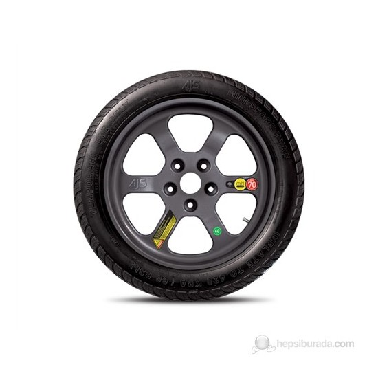 Mini Stepne (Yedek) Lastik - Tüm Binek Araç Ebatlarına Uygun ( Yol Yardım
