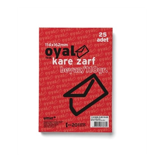 Oyal Kare Zarf (11.4x16.2) Beyaz 110Gr 25'li